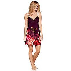 B by Ted Baker - Purple floral print satin trim 'Juxtapose Rose' chemise