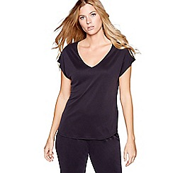 Nine by Savannah Miller - Dark grey modal blend short sleeve pyjama top