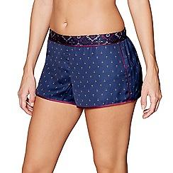 Nine by Savannah Miller - Purple fan print satin pyjama shorts