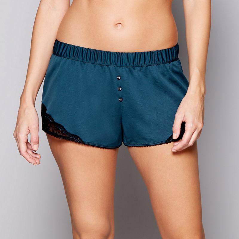 Nine by Savannah Miller Green satin pyjama shorts