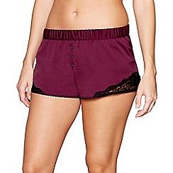 Nine by Savannah Miller - Purple satin pyjama shorts