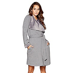 Nine by Savannah Miller - Grey cotton blend dressing gown