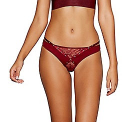 Ann Summers - Red studded lace mesh 'Karly' thong