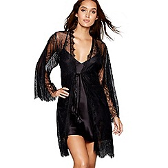 Lipsy - Black lace 'Wynette' wrap