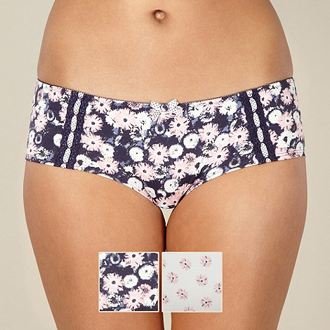 Presence - Pack of two pink floral shorts
