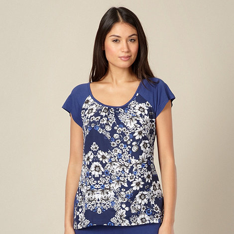 B by Ted Baker - Navy floral symmetry pyjama t-shirt