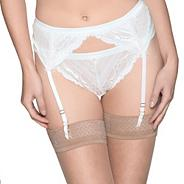 Ivory lace suspender