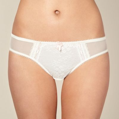 Ivory lace hipster briefs