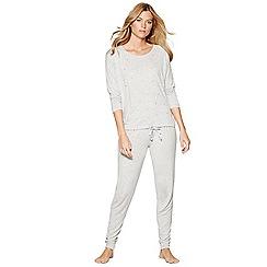 Nine by Savannah Miller - Grey star studded long sleeve pyjama set