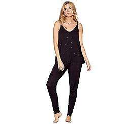 Nine by Savannah Miller - Black star studded jersey pyjama set