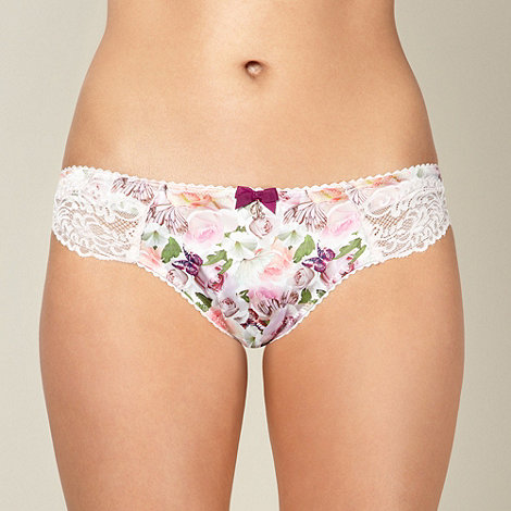 B by Ted Baker - Pink lace trimmed butterfly hipster briefs