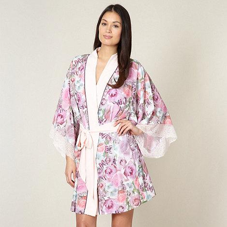 B by Ted Baker - Pink butterfly chiffon kimono