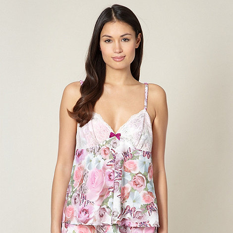 B by Ted Baker - Pink butterfly lace cup camisole