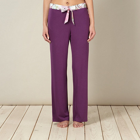 B by Ted Baker - Purple butterfly waistband pyjama bottoms