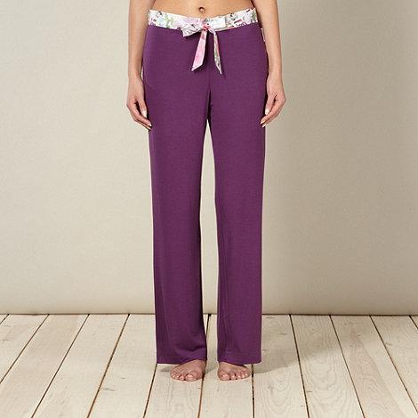 B by Ted Baker - Purple butterfly waistband pyjama bottoms
