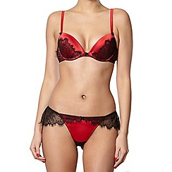 Von Follies by Dita Von Teese - Red lace trimmed plunge bra