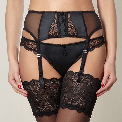 Von Follies by Dita Von Teese - Black lace suspender belt