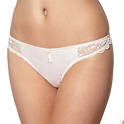 Von Follies by Dita Von Teese - Light pink lace side thong