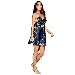 B by Ted Baker - Navy bird print satin 'Flight of the Orient' chemise