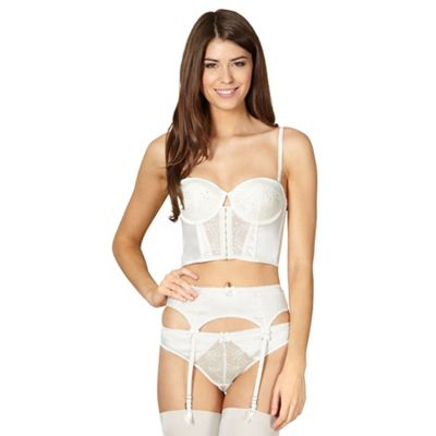 B by Ted Baker Ivory bridal lace longline bra - . -