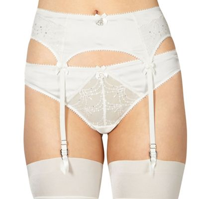 Ivory bridal lace suspender belt