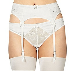 B by Ted Baker - Ivory bridal lace suspender belt