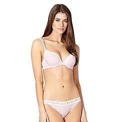Presence - Pink modal stretch plunge bra