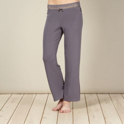 B by Ted Baker Grey lace and jersey pyjama bottoms - . -