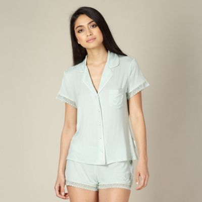 B by Ted Baker Light green plain jersey pyjama set - . -