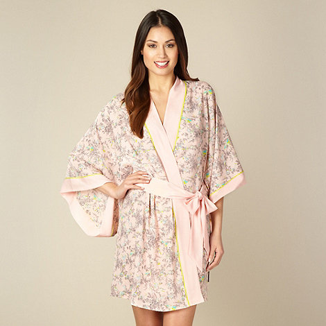 B by Ted Baker - Pink bird print kimono