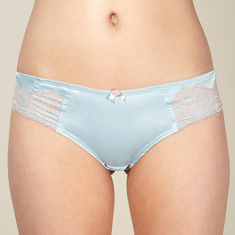 Adore Moi by Ultimo - Light blue satin and lace brazilian briefs