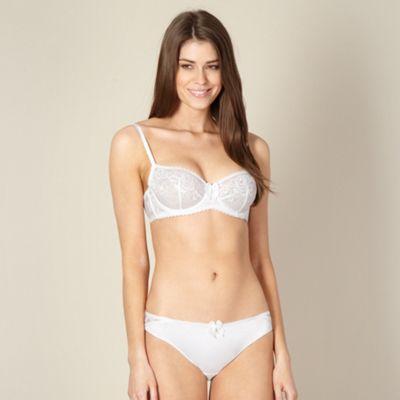 Designer white non padded lace bra