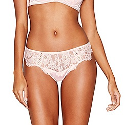 Reger by Janet Reger - Pink lace thong