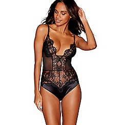Reger by Janet Reger - Black lace satin body