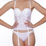 White 'Love mood' basque