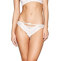 Nine by Savannah Miller - Ivory graphic lace Brazilian knickers