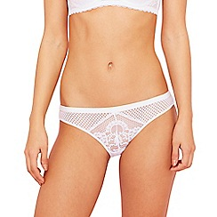 The Collection - White lace high leg knickers