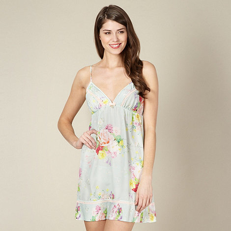 B by Ted Baker - Light green botanical crepe chemise