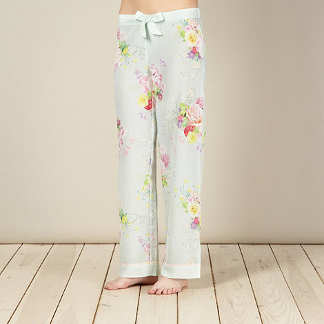 B by Ted Baker - Light green botanical crepe pyjama bottoms