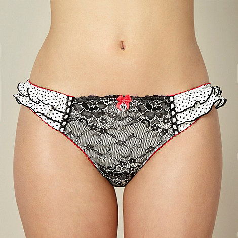 Floozie by Frost French - Designer white lace thong