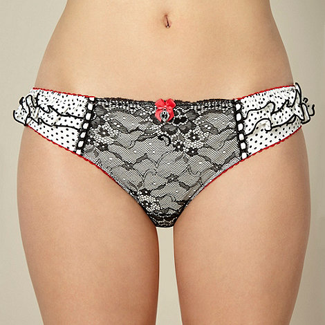Floozie by Frost French - Designer white lace hipster briefs