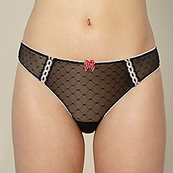 Floozie by Frost French - Black diamond mesh thong