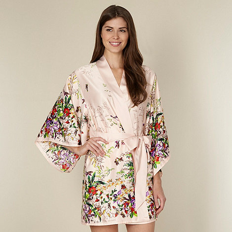 B by Ted Baker - Beige floral garden print kimono