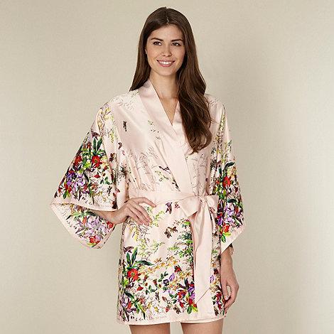 B by Ted Baker - Beige floral garden print kimono