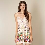 Beige floral garden print chemise