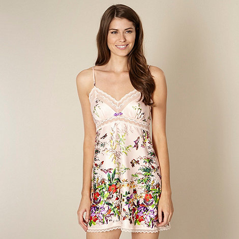 B by Ted Baker - Beige floral garden print chemise