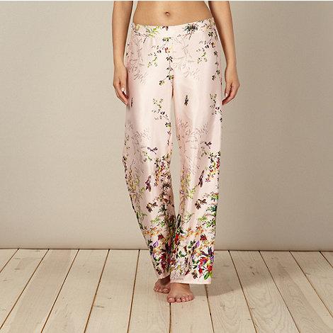 B by Ted Baker - Beige floral garden print pyjama bottoms