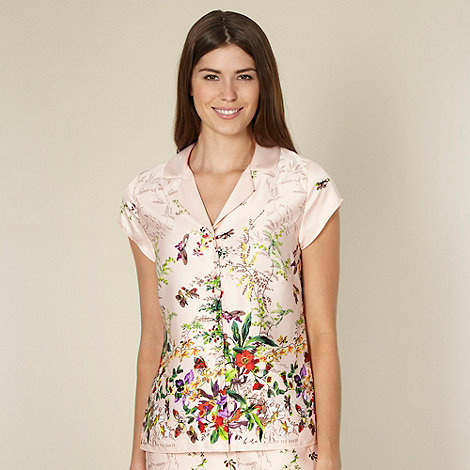 B by Ted Baker - Beige floral garden print pyjama shirt