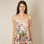 Beige floral garden print camisole