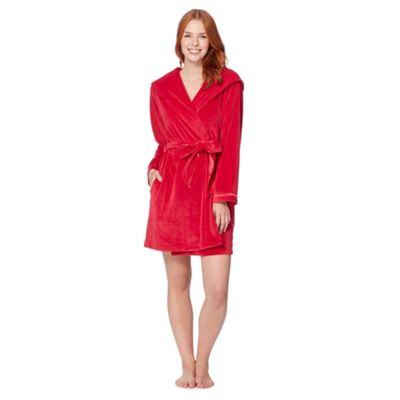 B by Ted Baker Dark pink short moleskin dressing gown - . -